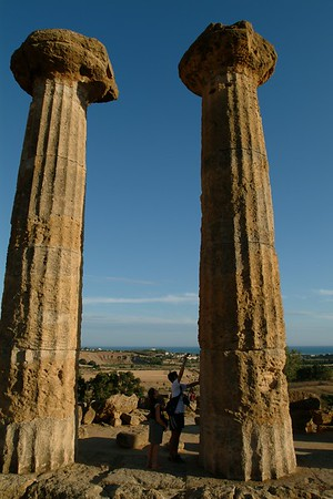 Valle dei templi in Agrigento.