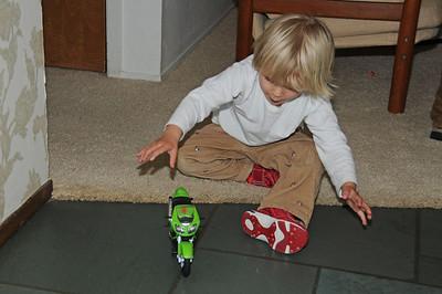 Launching the Ninja wheelie motorcycle.