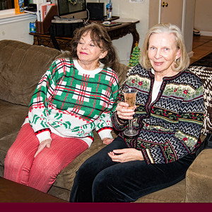 Greta and Eivor watch the festivities