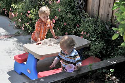 Brothers at play.