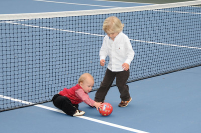 More fun on the tennis court.