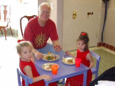 step-dad bill with little angels: lauren & alexandra