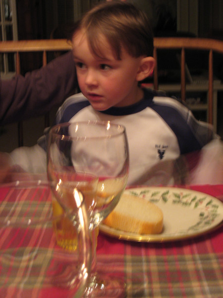 Andrew looks eager to eat.