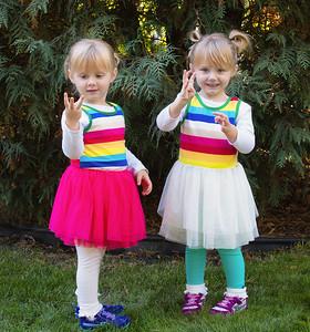 Annika and Elise - 3rd Birthday - October 2, 2015