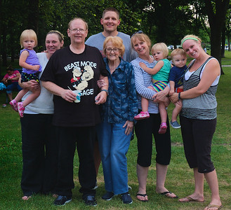 Family at Minnehaha Falls, August 5, 2014