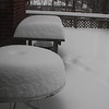 Ths is the snow on the deck as of Saturday afternoon.