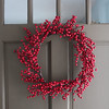 A simple wreath for the front door.