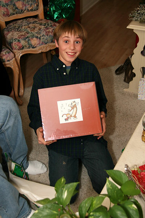 Joey loves his new Calvin & Hobbes box set!