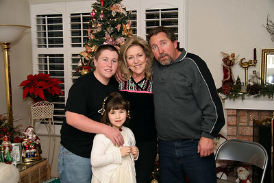 David, his sister Brianna, Colleen, and Steve.