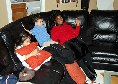 The kids take a break.
