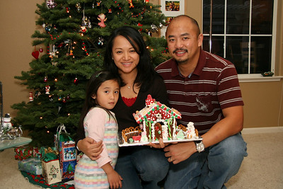Sara, Cynthia, and Eric created quite the colorful gingerbread house.