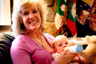 Auntie Sara with Mackenzie
