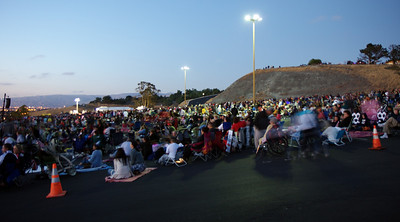 There were several thousand people on the hill enjoying live music, food, games, and fireworks.