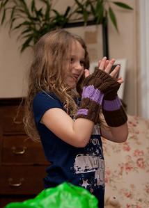 Alice loved her gloves!