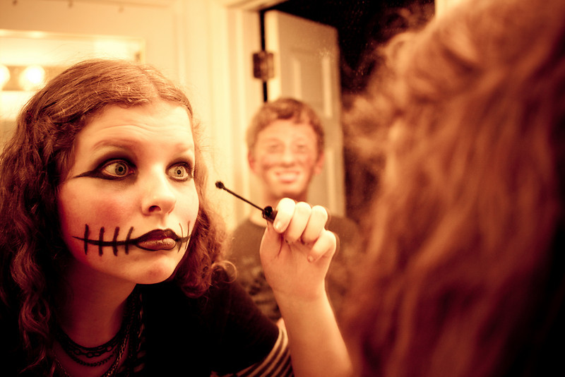 Abigail, 13, is only allowed to wear makeup on Halloween.
