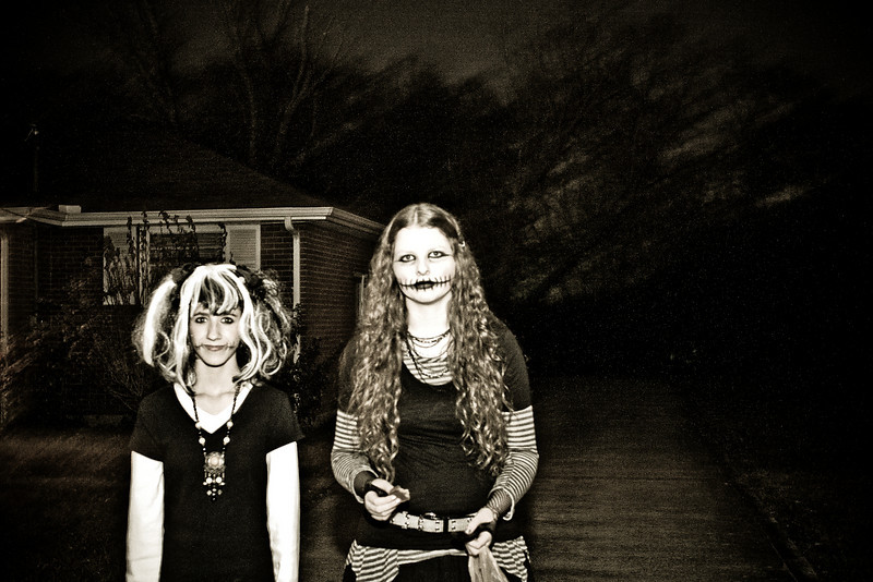 Amber and Abigail - Halloween 2010