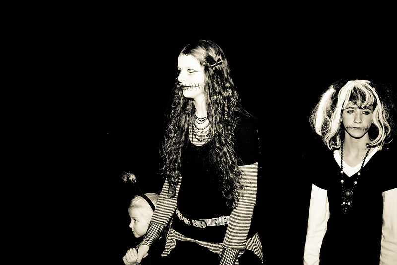 Chloe, Abigail, and Amber - Halloween 2010