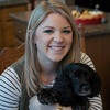 Kristin, our granddaughter and Millie our granddog.