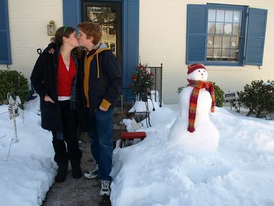 Demure snowman