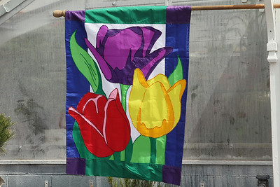 Banner hanging at greenhouse