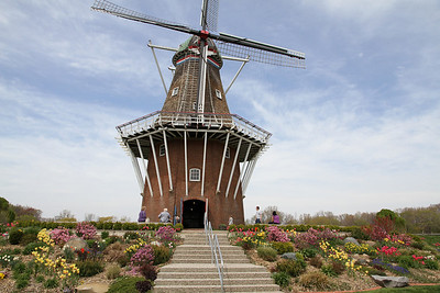 A working 250 year old windmill was brought over from Holland and reconstructed at Windmill Island Park