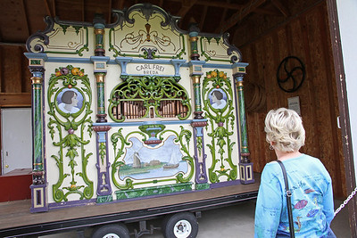 Karen looking at the organ