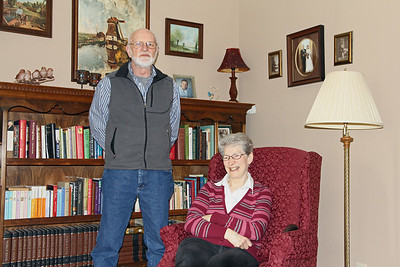 My cousin Humphrey and Jacqui in living room