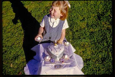 """Sue & Cake 3rd B-day"" Type: Kodachrome. Number 26 (red) Nov 65 M."