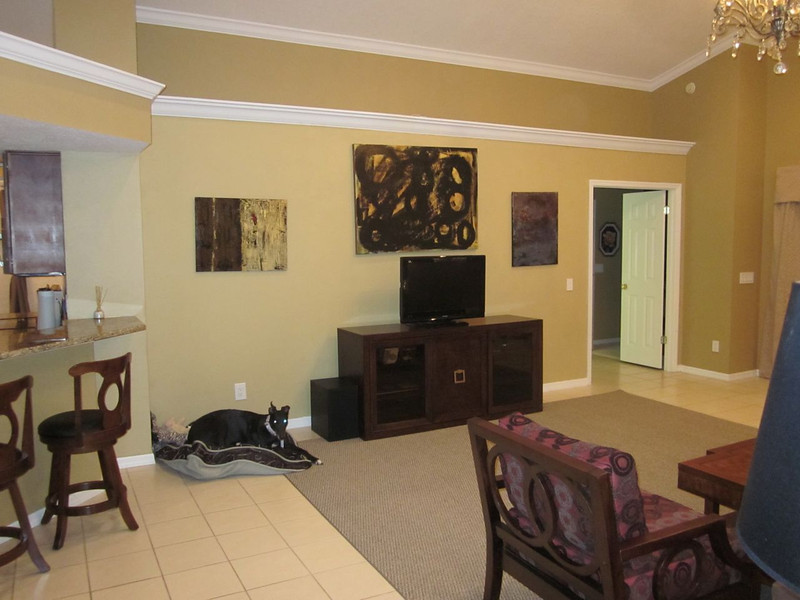Great room 4. View of Entertainment center. Believe it or not, the furniture in this room came from 6 different places - but it all blends together really well.