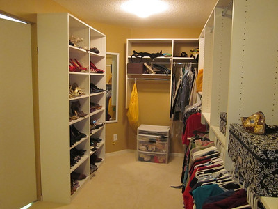 The master bedroom closet: bigger than some NYC apartments!