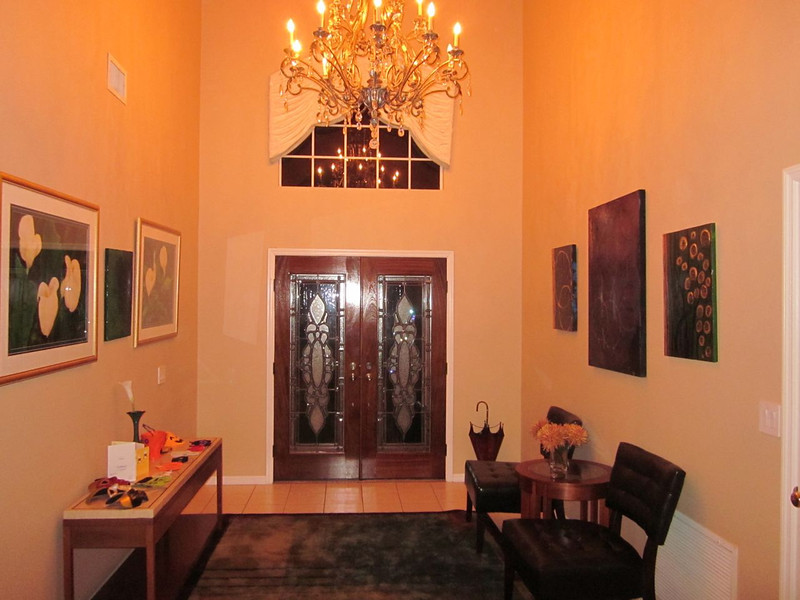 Front entry hall at night 2