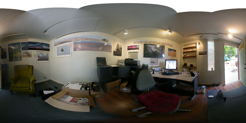Panoramic of my new office.  I'm working on getting up a viewer for this full 360 pano.