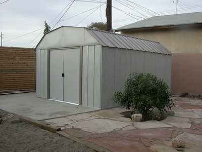 Improved shed (The previous owners shed was a large truck)