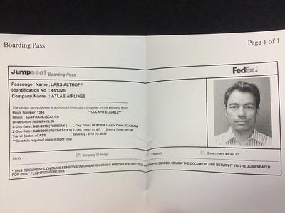 FedEx jumpseat SFO-MEM
