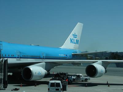 KLM 747 to AMS