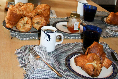 Easter, 2011.   In our family you know it's a holiday when Geoff has cooked popovers for breakfast.