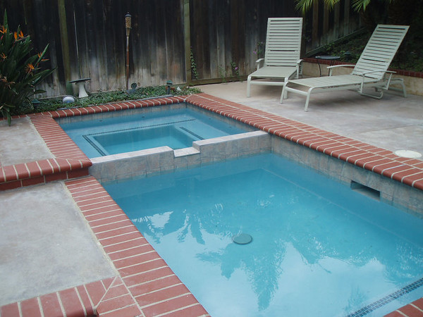 The pools after.