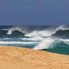 Ehukai Beach Park on the North Shore known as the Banzai Pipeline by surfers