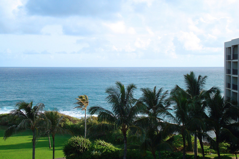 Looking out our balcony at the northern most point of Oahu.