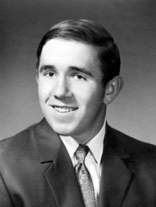 David Hornbaker, 1970 graduation photo