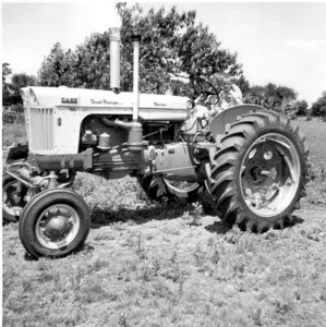 Larry and Paul Hornbaker on Case tractor