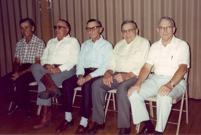 Hornbaker Brothers 1987. Left to right: Roger, Melvin, Vincent, Ferris and Gerald