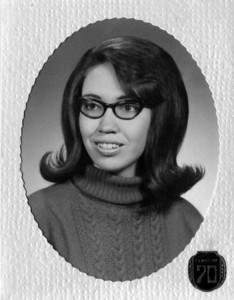 Janettie Hornbaker (Fief) graduation photo 1970