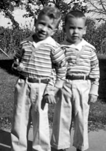 Larry and Paul Hornbaker, circa 1958
