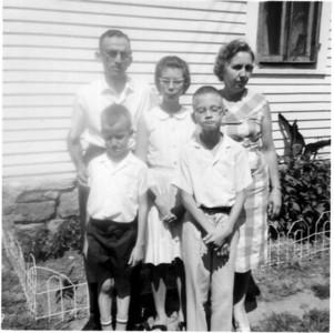 Edith and Arthur Holderread with Charles, Beth,and John, 1967 at Roger Hornbaker house