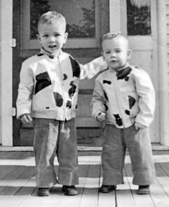 Larry and Paul Hornbaker, circa 1957