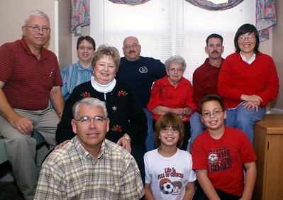 Alice Hornbaker and family, Christmas 2007