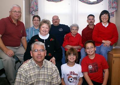 Alice Hornbaker and family, Christmas 2007