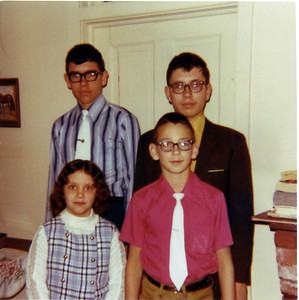 Patricia, Lowell, Paul and Larry Hornbaker, 1971