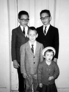 Patricia, Lowell, Paul and Larry Hornbaker, 1967